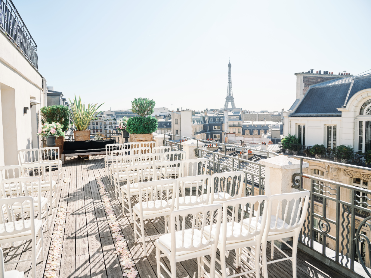 Wedding with a view on Paris
